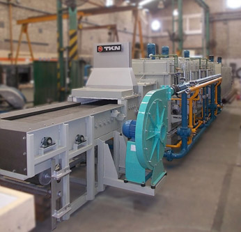 Teknoaustral - Continuous mesh belt carburizing furnace